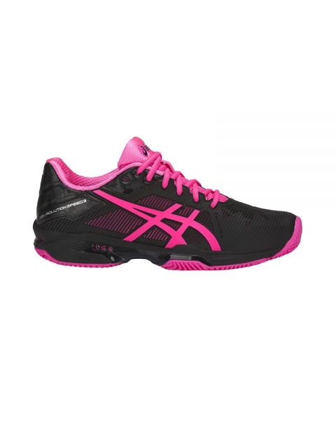 Asics Gel Solution Speed 3 Clay Negro Fucsia Mujer