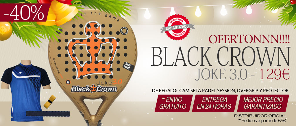 Pala de padel black crown joke 3.0