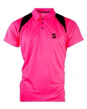 POLO SHIRT SOFTEE REFLEX PINK BLACK