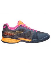 BABOLAT JET AC GREY ORANGE PINK WOMEN TRAINERS