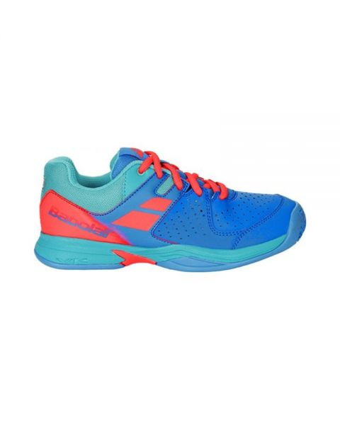 ZAPATILLAS BABOLAT PULSION WPT JUNIOR AZUL NARANJA