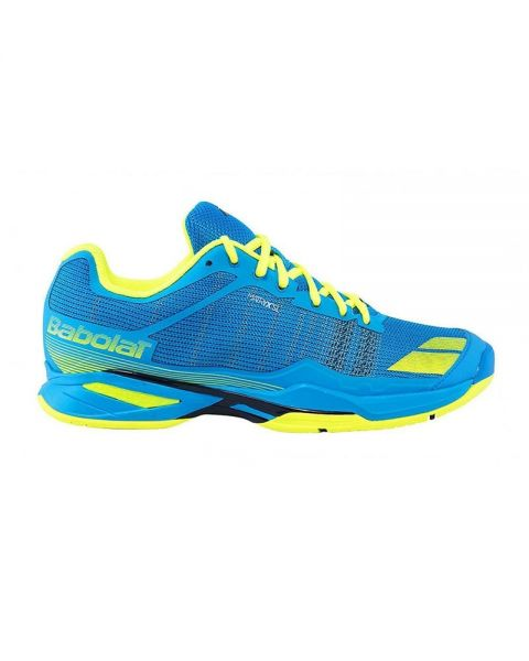 3b711cf825e3f CHAUSSURES BABOLAT JET ALL COURT JUNIOR BLEUES JAUNES