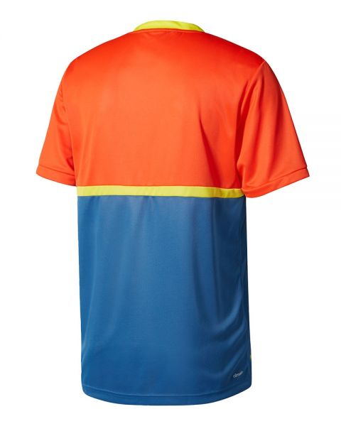 disculpa Escarchado Tejido  ADIDAS COURT PADEL T-SHIRT - ORANGE BLUE YELLOW