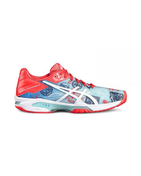 ASICS GEL SOLUTION SPEED 3 L.E PARIS WOMAN ROSA AZUL E761N 4301