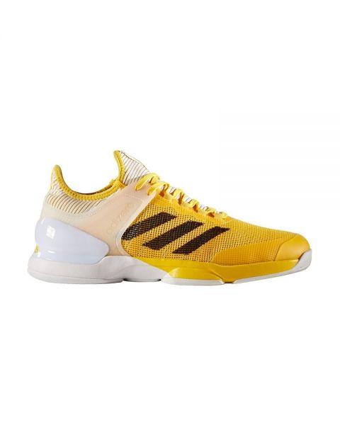 adidas Adizero Uber Sonic 2Clay Zapatillas de tenis para mujer, blanco y naranja