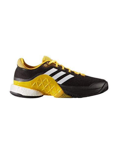 new product 466ad bbd42 ADIDAS BARRICADE 2017 BOOS CBLACK PADEL SHOES CG3087