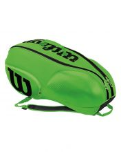 WILSON MINI VANCOUVER 6PK GREEN BLACK RACKET BAG