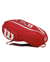 WILSON MINI VANCOUVER 6PK RED WHITE RACKET BAG