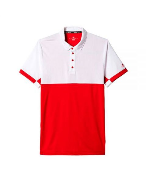 good amazing selection buy popular ADIDAS T16 CLIMACOOL RED WHITE MEN POLO SHIRT