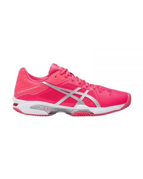 ASICS GEL SOLUTION SPEED 3 CLAY ROSA PLATA E651N 1993