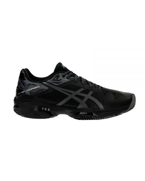 L 3 e Clay Noir Chaussures Solution Asics Speed Homme Gel wx71O1