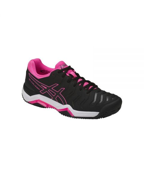ASICS GEL CHALLENGER 11 CLAY NEGRO FUCSIA E754Y 9090