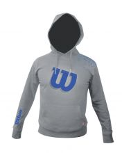 SWEATSHIRT WILSON CORE COTTON PU HODDIE GREY BLUE WRE220007