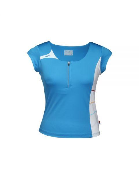 Mujer Camiseta Varlion Md13w01 Spandex Turquesa Textil Con Tejido vtgtaxw