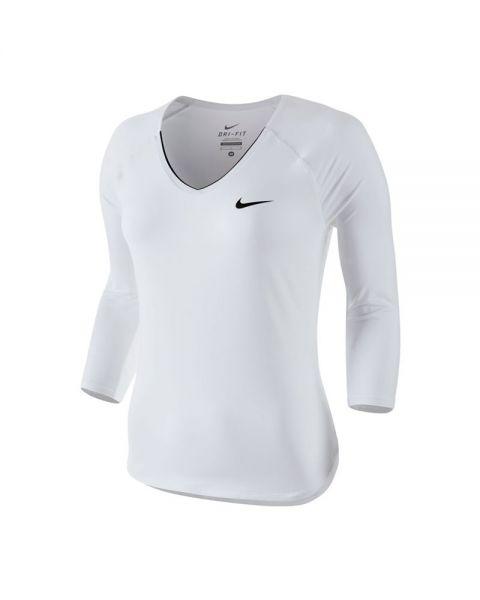5b3a7f7dff Camiseta Nike Court Pure Mujer Blanco Negro