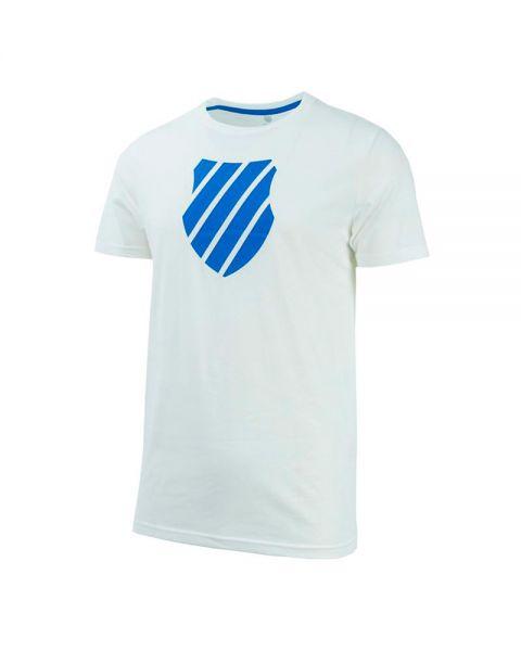 3179b8b7d6c Camiseta K-Swiss Logo blanco azul - Tacto suave y costuras planas