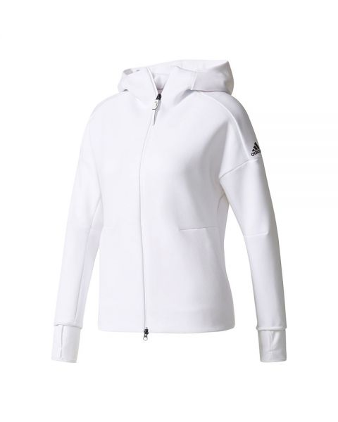 eWhite Women n Hood Jacket Adidas Z With BoerdxWC