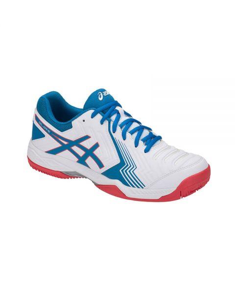 4a44f2a8b4 Zapatillas Asics Gel Game 6 Clay blanco azul - Amortiguación ...