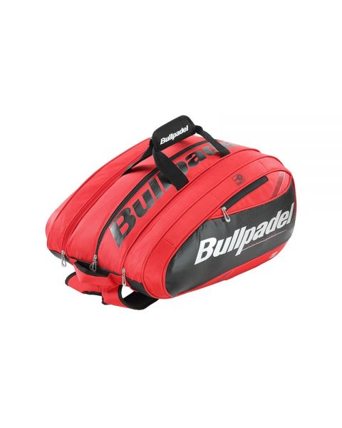 5fa0ec85 Bullpadel MID Capacity red black padel racket bag - Resitant fabrics