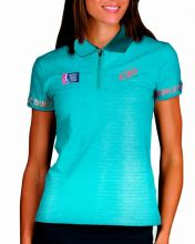 BULLPADEL COBENA TURQUOISE WOMEN POLO SHIRT