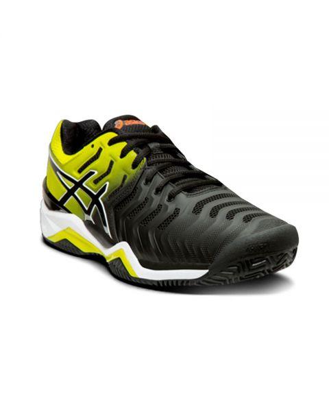 Matemático Incierto Derivación  Asics Gel Resolution 7 Clay black yellow - Top padel shoes