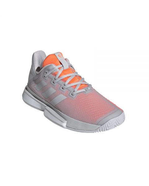 ADIDAS SOLEMATCH BOUNCE CLAY MUJER GRIS NARANJA EF4461