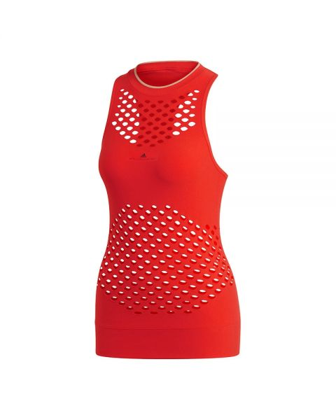 ADIDAS BY STELLA MCCARTNEY COURT SEAMLESS RED WOMEN TANK TOP