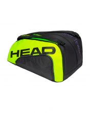 PALETERO HEAD TOUR TEAM PADEL MONSTERCOMBI NEGRO AMARILLO FL�OR