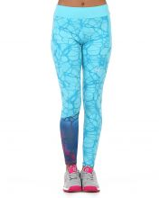 LEGGINGS BULLPADEL IRALA FLUO BLUE WOMAN