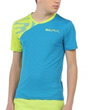 T-SHIRT BULLPADEL CHAMOIS BLEU LIME GAR�ON