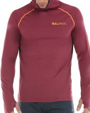 SUDADERA BULLPADEL CHOIWAN BURDEOS
