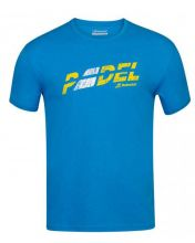 CAMISETA BABOLAT EXERCISE FLAG MESSAGE TEE AZUL TURQUESA