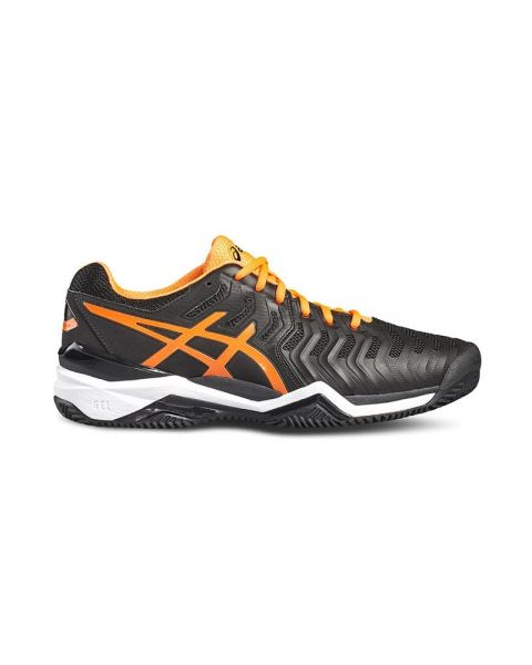 44eaaf1045b ASICS GEL RESOLUTION 7 CLAY NEGRO NARANJA E702Y 9030