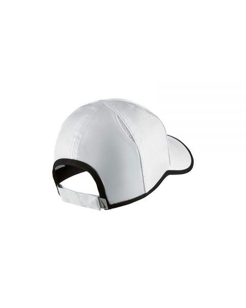 Tomate litro Agresivo  Gorra Nike Feather Light Blanco Negro - Tecnología Dri-FIT