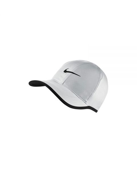8f2915d8b63d6 Gorra Nike Feather Light Blanco Negro - Tecnolog a Dri-FIT
