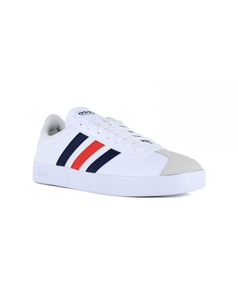 excellent quality vast selection on feet shots of ADIDAS VL COURT 2.0 WHITE NAVY BLUE RED DA9884