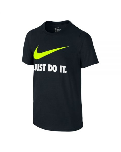 Camiseta Nike Just Do It Swoosh azul marino niño - Textil fresco 8d691f22573ec
