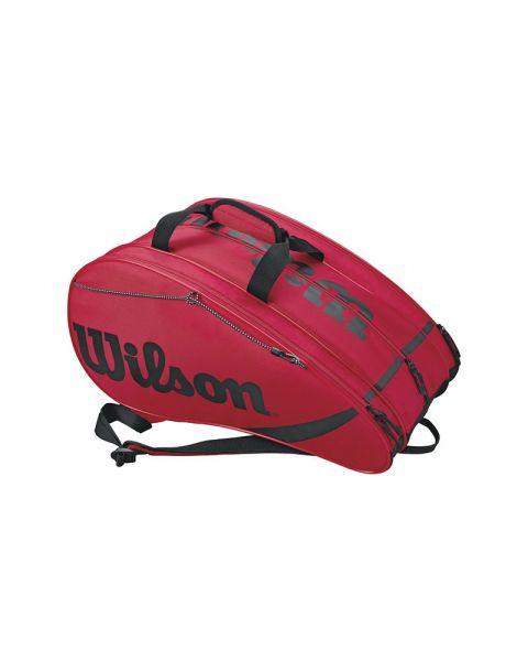 2f048b4f8 Raquetero Wilson Rak Pak Rojo negro WRZ618100 - fácil de trasladar