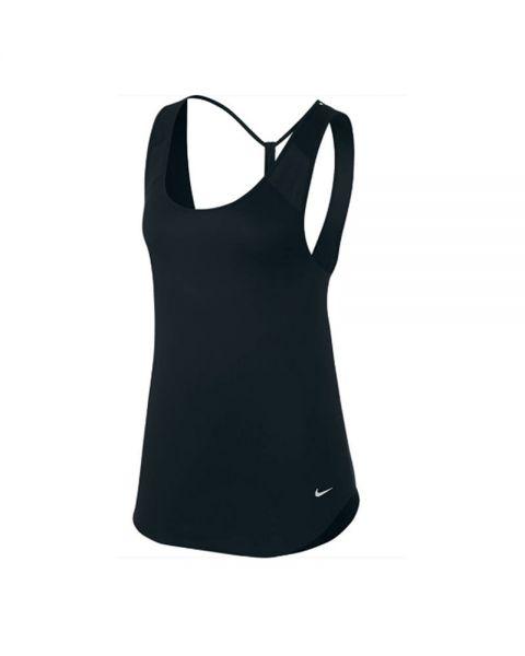 Mujer Negro Nike Camiseta Tirantes Tank Breathe Strappy w0POkn
