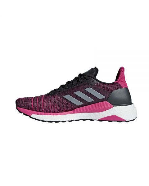 release date f8a60 296c7 ADIDAS SOLAR GLIDE CARBON MAGENTA MUJER AQ0335