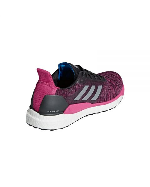 release date 40683 929d0 ADIDAS SOLAR GLIDE CARBON MAGENTA MUJER AQ0335