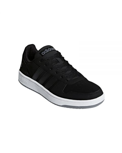 bc72d2081bd ADIDAS NEO Hoops 2.0 Black White - Soft and light