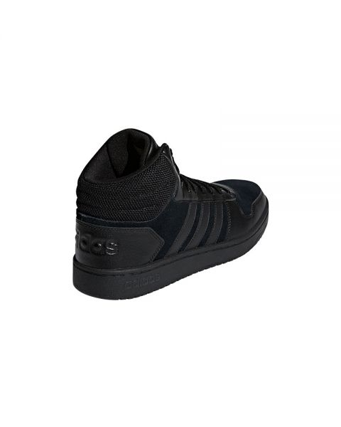 e4ff83dffc2 ADIDAS NEO Hoops 2.0 MID Black - Breathable mesh