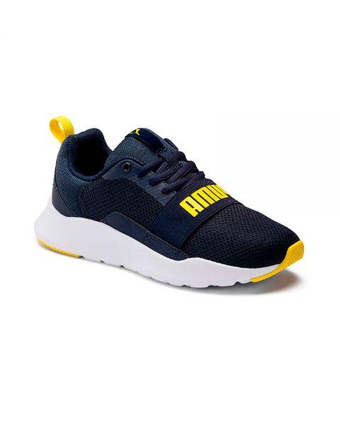 Puma Wired Blue Yellow Boy - Cushioning