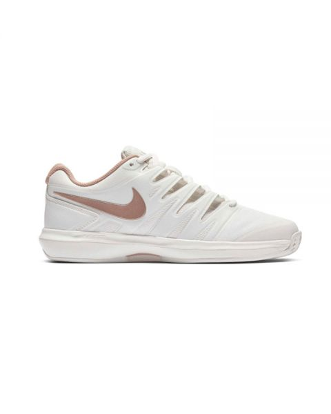 best sneakers 08269 d95b3 Nike Air Zoom Prestige Clay Blanco Rosa Mujer - Transpirables