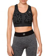 HG SPORT CRACKED BLACK SPORTS BRA