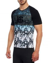 HG SPIKE BLACK BLUE SHORT-SLEEVE SHIRT