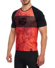 HG SPORT SPIKE ORANGE BLACK MICRO-PIERCED SHIRT