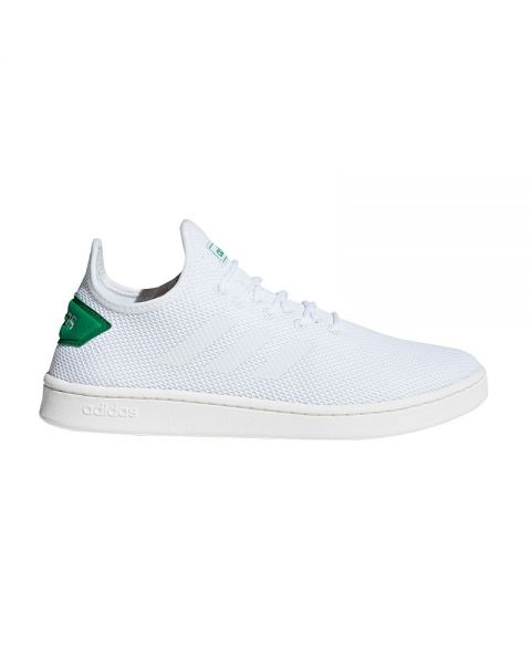 acortar champú Exceder  Adidas Court Adapt white green - Comfortable fit