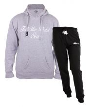 SIUX OUTFIT CLASSIC GREY SWEATSHIRT AND FURTIVE BLACK SWEATPANTS
